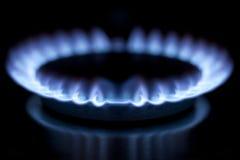 Bruciatore a gas in cucina Fotografia Stock Libera da Diritti