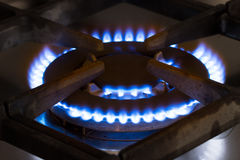 Stufa del bruciatore a gas Fotografia Stock