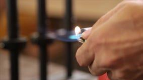 Bruciatore a gas dello strumento archivi video