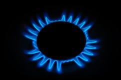 Bruciatore a gas sulla stufa. Fotografia Stock Libera da Diritti