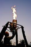 Bruciatore pilota di prova dell'aerostato di aria calda Fotografie Stock