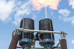 Bruciatori della mongolfiera Immagini Stock