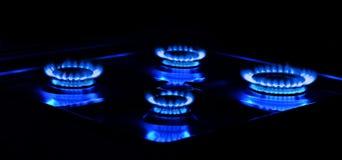 Bruciatori a gas bruciati immagine stock libera da diritti