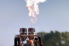 Bruciatori nell'azione Fotografia Stock Libera da Diritti