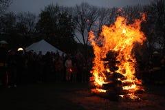 Bruciatura delle streghe Fotografia Stock
