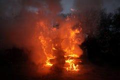 Bruciatura delle streghe Immagini Stock Libere da Diritti