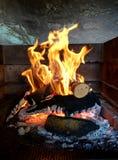 Bruciatura di legni Fotografie Stock