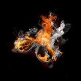 Bruciatura di vetro Immagini Stock Libere da Diritti