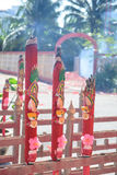Bruciatura gigante dei bastoncini d'incenso Fotografie Stock Libere da Diritti