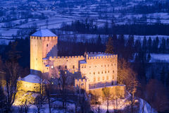 Bruck Castle by night - Austria Royalty Free Stock Photography