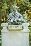 Bruckner byst i Stadtpark, Wien Royaltyfria Foton