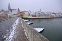 brucktor城市门德国雷根斯堡 免版税库存照片