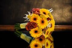 Brud- blommabukett Royaltyfri Foto