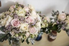 Brud- blommabukett Fotografering för Bildbyråer