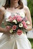 brud- bröllop för bukett Arkivbild