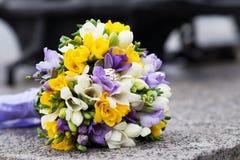 brud- bröllop för bukett Fotografering för Bildbyråer