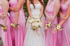 Brud- bröllopblommor Arkivbild