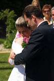 Brud, brudgum och cirkel. Royaltyfri Bild