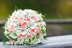 Brud- bukett, blommor Royaltyfri Fotografi