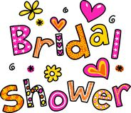 Brud- dusch Royaltyfri Bild