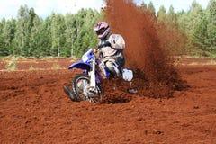 brud ekstremalne motocykl z drogi Zdjęcia Royalty Free