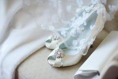brud- eleganta skor Royaltyfri Bild