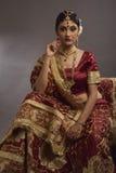 Brud från Indien Royaltyfri Fotografi