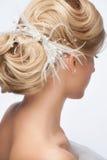 Brud- frisyr Fotografering för Bildbyråer