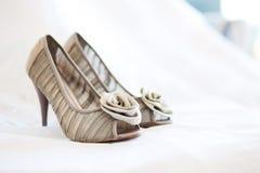 brud- gifta sig för skor Royaltyfri Fotografi