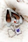 Brud i den vita klänningen Royaltyfri Fotografi