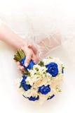 Brud i den vita klänningen Royaltyfri Bild