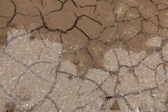 Brud i lód z pęknięciami - tło i tekstura Obrazy Royalty Free
