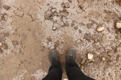 Brud i lód z pęknięciami - tło i tekstura Zdjęcie Stock