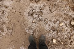 Brud i lód z pęknięciami - tło i tekstura Fotografia Stock