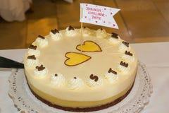 Brud- kaka Fotografering för Bildbyråer