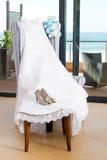 brud- klänning Fotografering för Bildbyråer