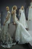 Brud- klänningar på skyltdockorna ses på ett rostat bröd till Tony Ward: En special brud- samling Royaltyfria Bilder