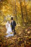 Brud med hans brudgum Arkivfoton