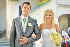 Brud och brudgum Royaltyfri Fotografi