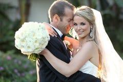 Brud och brudgum Arkivfoton