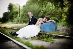 Brud och brudgum Royaltyfri Bild