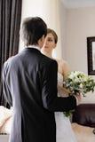 Brud och brudgum Arkivfoto