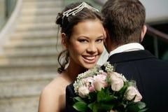 Brud och brudgum Fotografering för Bildbyråer