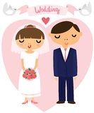 Brud och brudgum Wedding Picture arkivbild