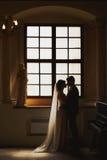 Brud och en brudgum Arkivfoton