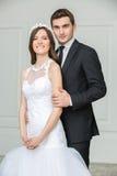 Brud- par för härligt mode Arkivbild