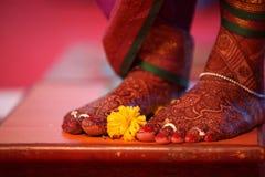 Brud- ritual för blomma Arkivfoto