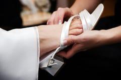brud- sko Fotografering för Bildbyråer