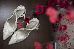 Brud- skor Arkivbilder