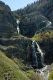 Brud- skyla nedgångar Utah i vår Arkivfoton